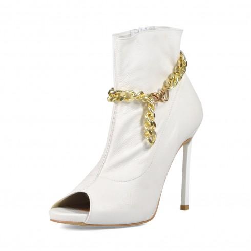 Biały botek ze złotym...