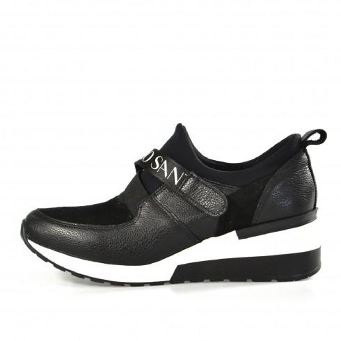 Czarny sneakers z logo...